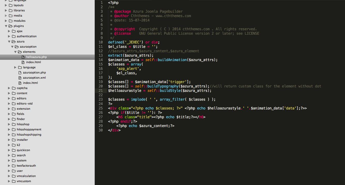 Create element template file